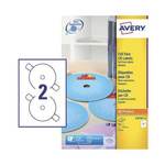 Avery White CD & DVD Label