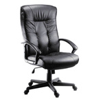 RS PRO Leather Faced Executive Chair Black