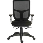 RS PRO Fabric Typist Chair 150kg Weight Capacity Black