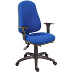 RS PRO Fabric Typist Chair 150kg Weight Capacity Blue