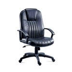 RS PRO Leather Executive Chair 115kg Weight Capacity Black