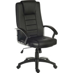 RS PRO Leather Faced Executive Chair 115kg Weight Capacity Black