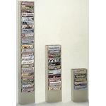 RS PRO Free Standing Steel Beige Magazine Rack, 65-1/2 x 9-3/4 x 4-1/8in