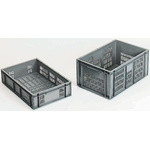Schoeller Allibert 20L Grey PP Medium Storage Box, 120mm x 400mm x 600mm