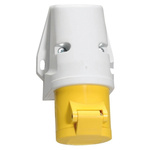 Bals IP44 Yellow Wall Mount 2P+E Industrial Power Socket, Rated At 16.0A, 110.0 V