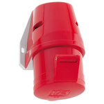Bals IP44 Red Wall Mount 3P+E Industrial Power Socket, Rated At 16.0A, 415.0 V