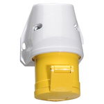 Bals IP44 Yellow Wall Mount 2P+E Industrial Power Socket, Rated At 32.0A, 110.0 V