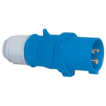 Bals IP44 Blue Cable Mount 2P+E Industrial Power Plug, Rated At 32.0A, 230.0 V