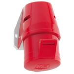 Bals IP44 Red Wall Mount 3P+E Industrial Power Socket, Rated At 32.0A, 415.0 V