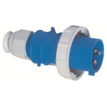 Bals IP67 Blue Cable Mount 2P+E Industrial Power Plug, Rated At 16.0A, 230.0 V