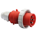 Bals IP67 Red Cable Mount 3P+E Industrial Power Plug, Rated At 16.0A, 415.0 V