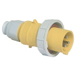 Bals IP67 Yellow Wall Mount 2P+E Industrial Power Plug, Rated At 32.0A, 110.0 V
