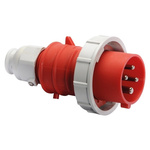 Bals IP67 Red Cable Mount 3P+E Industrial Power Plug, Rated At 32.0A, 415.0 V