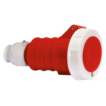 Bals IP67 Red Cable Mount 3P+E Industrial Power Socket, Rated At 32.0A, 415.0 V