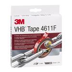 3M 4611F, VHB™ Grey Foam Tape, 19mm x 3m, 1.1mm Thick