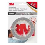 3M 4433 Grey Foam Tape, 19mm x 5m, 0.8mm Thick