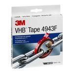 3M 4943F, VHB™ Grey Foam Tape, 19mm x 3m, 1.1mm Thick
