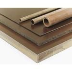 Brown Plastic Sheet, 590mm x 285mm x 12mm, Phenolic Resin, Kraft Paper
