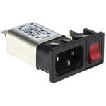 Bulgin,10A,250 V ac Male Snap-In IEC Filter 1 Pole BZM27/A0620/55B 1 Fuse