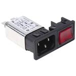 Bulgin,6A,250 V ac Male Snap-In IEC Filter 2 Pole BZM27/A0620/59B None Fuse