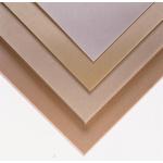 Beige Plastic Sheet, 590mm x 285mm x 2mm, Epoxy Resin, Weave Cotton