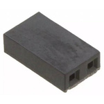 Molex, C-Grid Shunt Female Straight Black Open Top 2 Way 1 Row 2.54mm Pitch