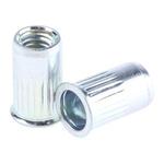 10.3mm Plain Steel Tubular Rivet, 5.9mm diameter, 0.5 → 3 mm Thickness