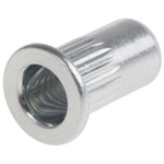 12.3mm Plain M5 Steel Tubular Rivet, 6.9mm diameter, 0.3 → 3 mm Thickness