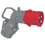 Legrand, HYPRA IP44 Red Cable Mount 3P+E Right Angle Industrial Power Plug, Rated At 16.0A, 415.0 V