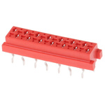 TE Connectivity, Micro-MaTch 2.54mm Pitch 14 Way 2 Row Straight PCB Socket, Through Hole, Solder Termination
