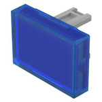 Blue Rectangular Push Button Lens for use with 31 Series