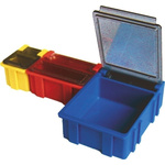 Licefa Blue, Transparent ABS Compartment Box, 21mm x 29mm x 22mm