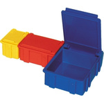 Licefa Transparent, Yellow ABS Compartment Box, 21mm x 42mm x 29mm