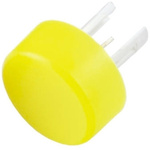 Yellow Round Push Button Lens for use with 19 Series