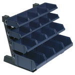 Raaco PP Storage Bin Container Rack, 388mm x 500mm, Blue, Grey