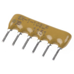 Bourns, 4600X 680Ω ±2% Bussed Through Hole Resistor Network, 5 Resistors, 0.75W total, SIP, Pin