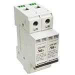 Bourns, 1210 600 V ac Maximum Voltage Rating 100kA Maximum Surge Current 2 Pole Protector, DIN Rail