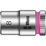 Wera 8mm Hex Socket With 1/4 in Drive , Length 23 mm