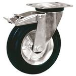 LAG Braked Swivel Swivel Castor, 60kg Load Capacity, 80mm Wheel Diameter