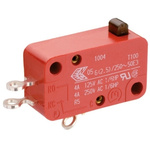 SPDT Plunger Microswitch, 10 A @ 250 V ac