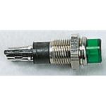 Sloan Green Indicator, Solder Tab Termination, 110 V, 220 V, 6.2mm Mounting Hole Size