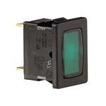 Green neon indicator, 240V, black body,1