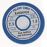 Felder Lottechnik 1.6m Desoldering Braid, Width 2.5mm