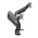 ROLINE Dual Monitor Arm, Heavy-Duty, Gas