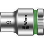 Wera 9mm Hex Socket With 3/8 in Drive , Length 29 mm