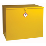 RS PRO Yellow Lockable 1 Doors Hazardous Substance Cabinet, 810mm x 965mm x 630mm
