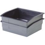 Licefa Plastic Storage Bin Storage Bin, 82mm x 210mm, Black
