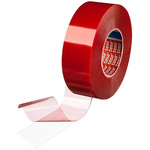 Tesa 4965 Transparent Double Sided Plastic Tape, 19mm x 50m