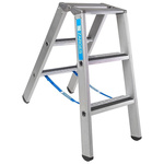 Zarges Aluminium 2 x 3 steps Step Ladder, 0.88m open length