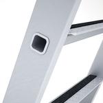 Zarges Aluminium 5 steps Step Ladder, 1.33m platform height, 2.15m open length